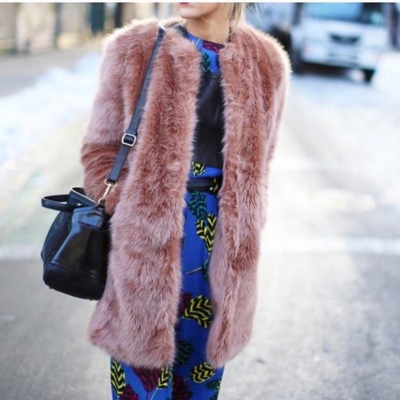 ASOS Oversized Faux Fur Coat